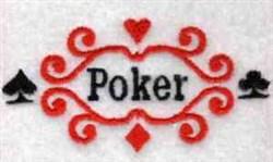 Poker embroidery design