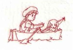 Boy In Boat embroidery design