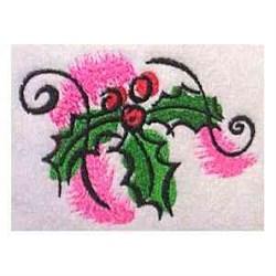 Xmas Holly embroidery design