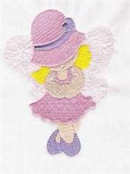 Bonnet Angel embroidery design