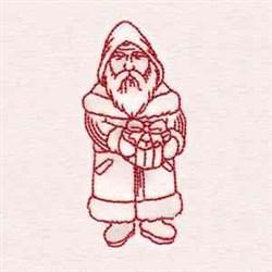 Redwork Santa embroidery design