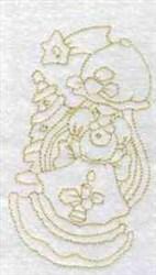 Xmas Girl embroidery design