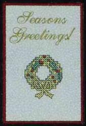 Seasons Greetings Card embroidery design