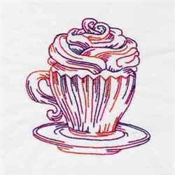 Colorful Coffee embroidery design