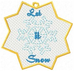 FSL Snow Ornamnet embroidery design