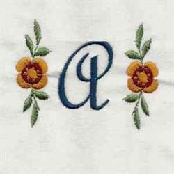 Script Monogram A embroidery design