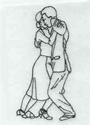 Dancing Couple embroidery design