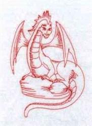 Redwork Dragon embroidery design