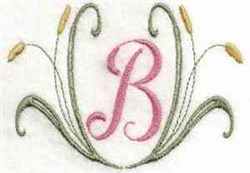 Catail Monogram B embroidery design