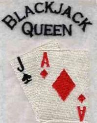 Blackjack Queen embroidery design
