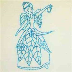 Floral Xmas Angel embroidery design