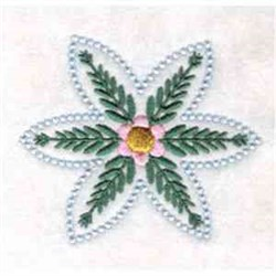 Leafy Flower embroidery design