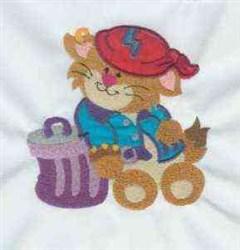 Cattitude Cat embroidery design