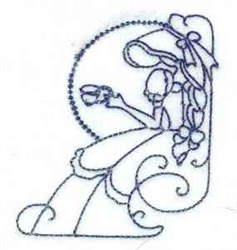 Redwork Lady embroidery design