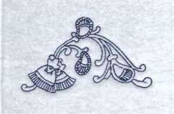 Redwork Paisley embroidery design