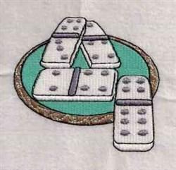 Domino Game embroidery design