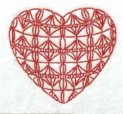 Redwork Heart embroidery design