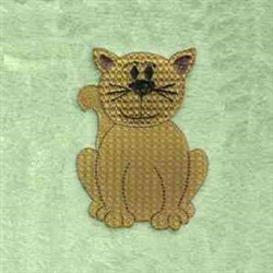 Brown Cat embroidery design