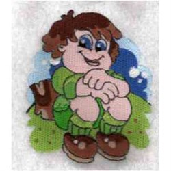 Boy Camping embroidery design