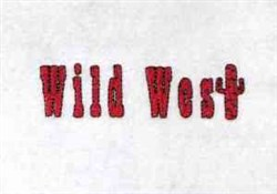 Wild West embroidery design