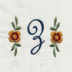 Script Monogram z embroidery design