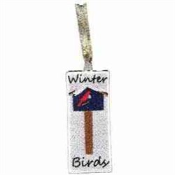 FSL Winter Birds Bookmark embroidery design