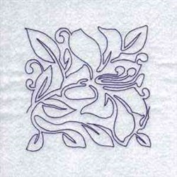 Lily Quilt Block embroidery design