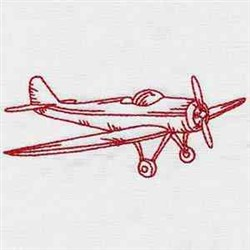 Redwork Airplane embroidery design
