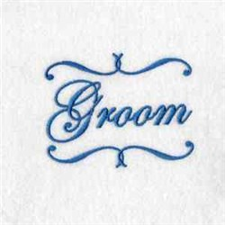 Groom Label embroidery design