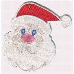 FSL Santa Head embroidery design