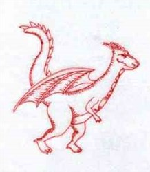 Redwork Flying Dragon embroidery design