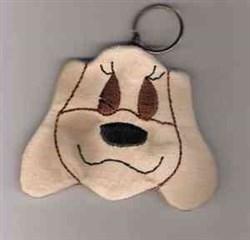 Dog Coin Bag embroidery design