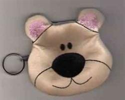 Bear Coin Bag embroidery design