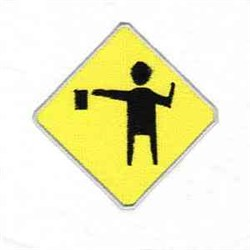 Road Sign embroidery design