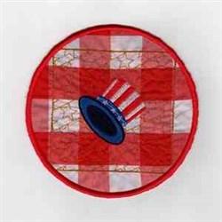 Patriotic Hat embroidery design