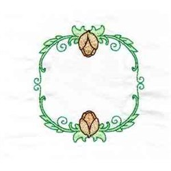 Tulip Monogram Frame embroidery design