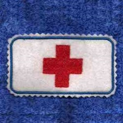 Red Cross Tin Cover embroidery design