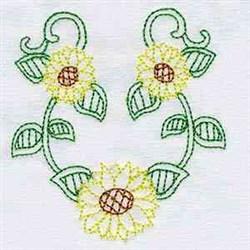 Sun Flowers embroidery design