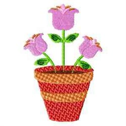 Potted Tulips embroidery design