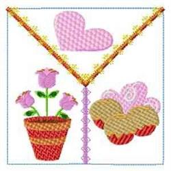 Valentine Block embroidery design