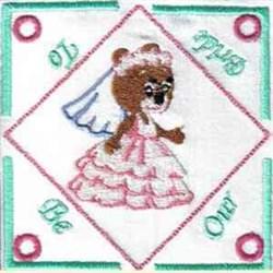 Bride Tea Bag Holder embroidery design