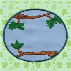 Tree Circle embroidery design