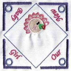 Baby Girl Tea Bag embroidery design