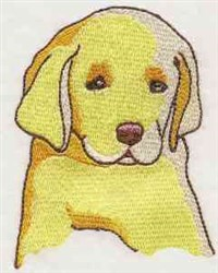 Yellow Dog Head embroidery design
