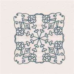 Rose Quilt Blcok embroidery design