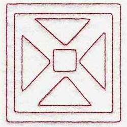 Triangle  Block embroidery design
