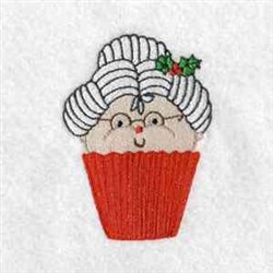 Mrs Claus Cupcake embroidery design