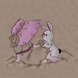 Bunny & Girl embroidery design