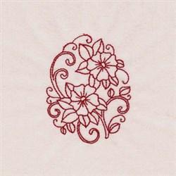 Redwork Daffodils embroidery design