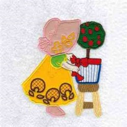 Girl With Topiary embroidery design